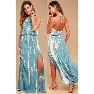 Lulu's 'In a Daydream' Tie-Dye Maxi Dress